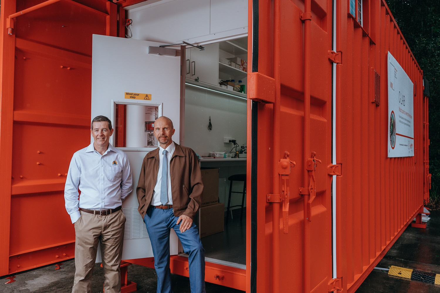 A shipping container with the potential to save lives